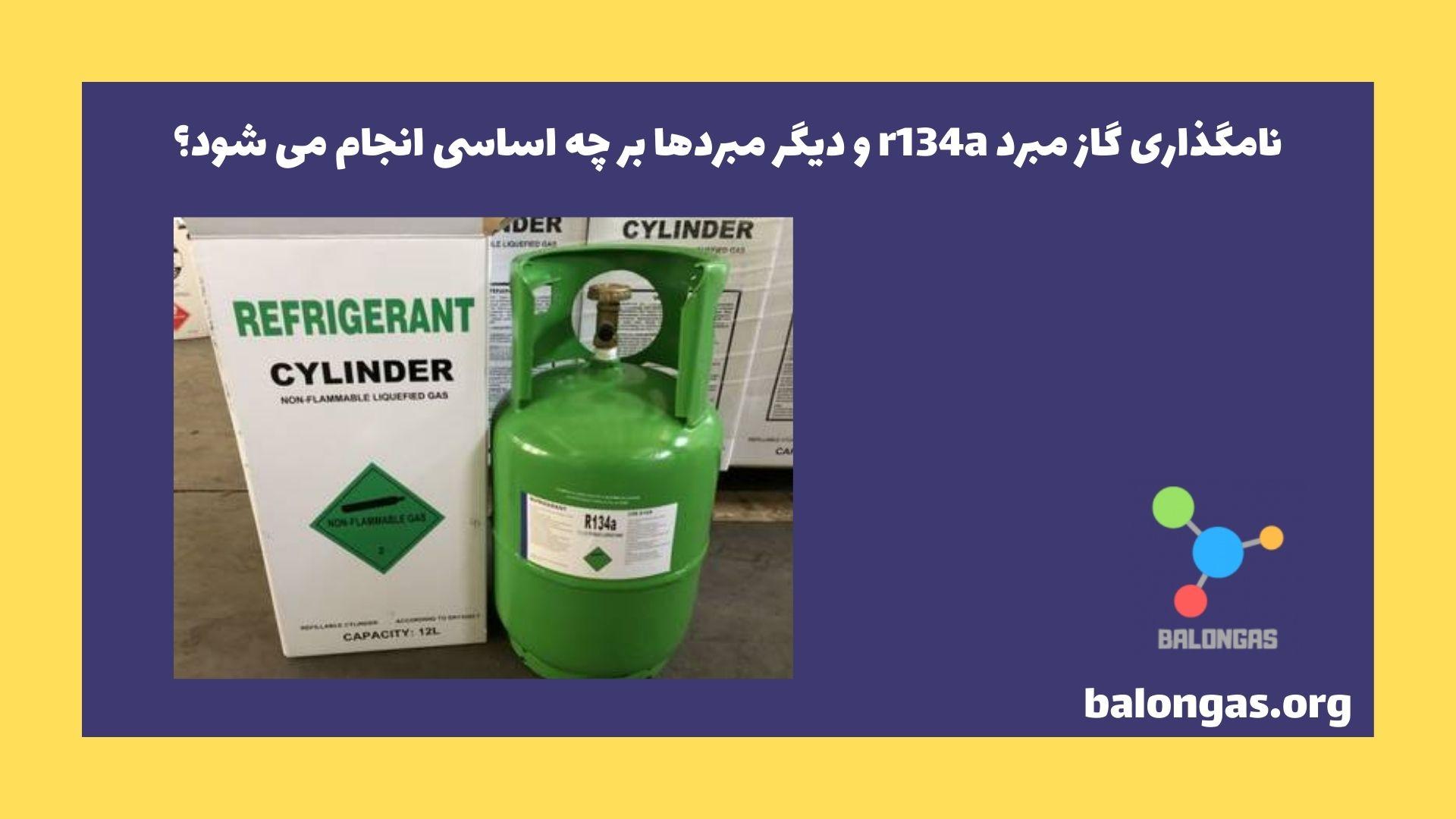 نامگذاری گاز مبرد r134a و دیگر مبردها بر چه اساسی انجام می شود؟