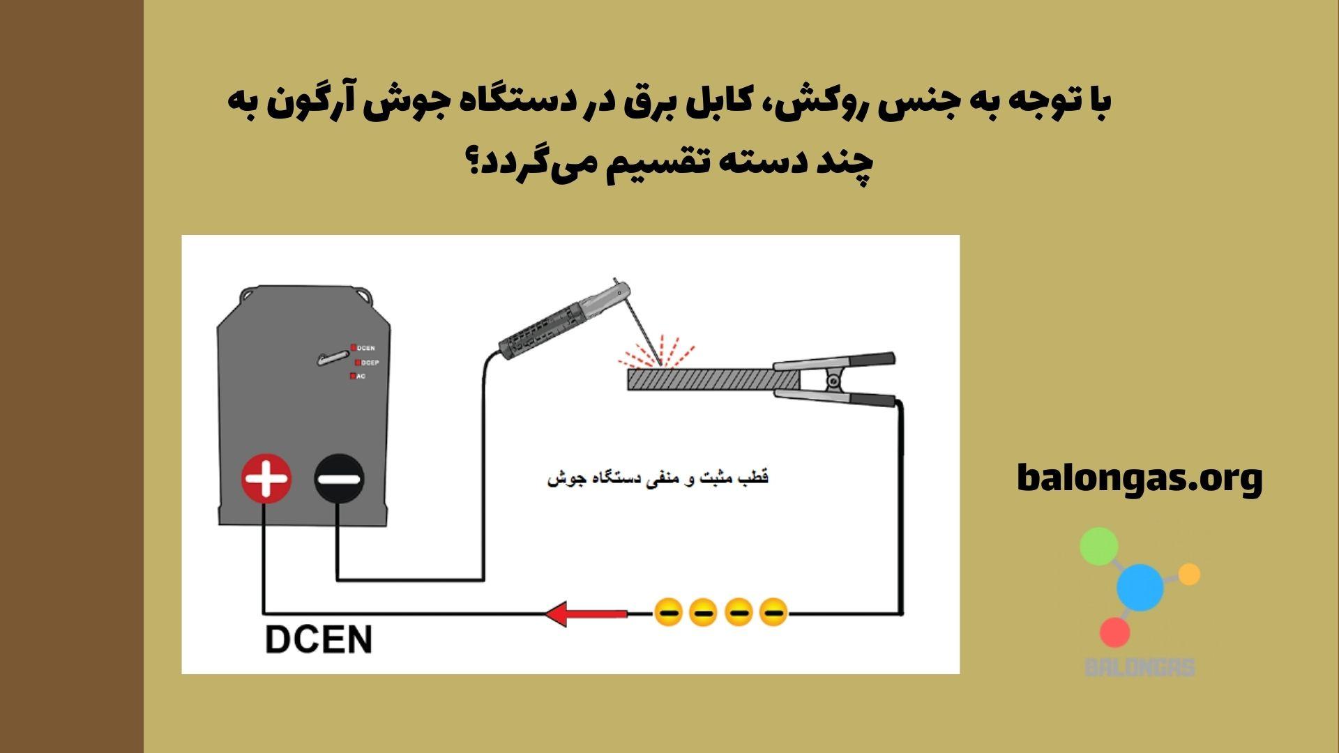 با توجه به جنس روکش، کابل برق در دستگاه جوش آرگون به چند دسته تقسیم میگردد؟