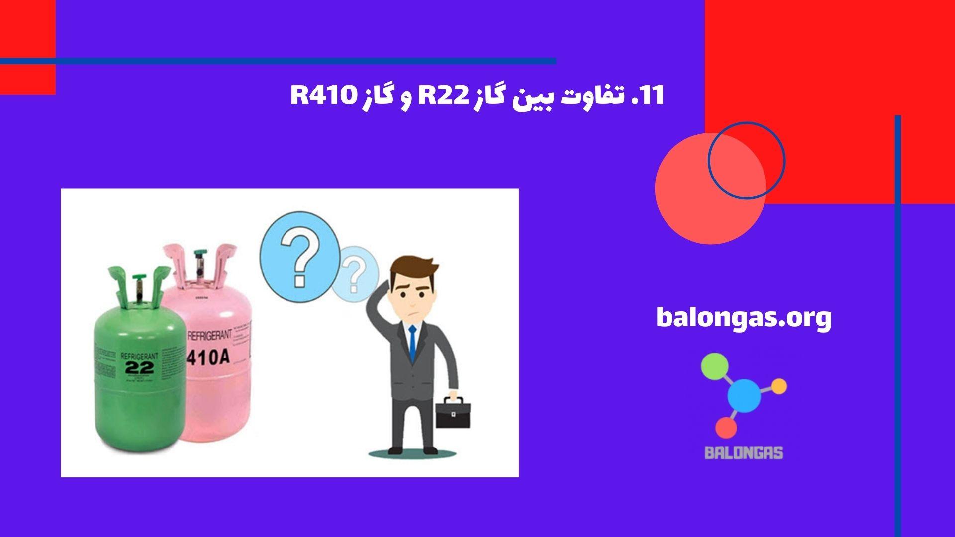 تفاوت بین گاز R22 و گاز R410