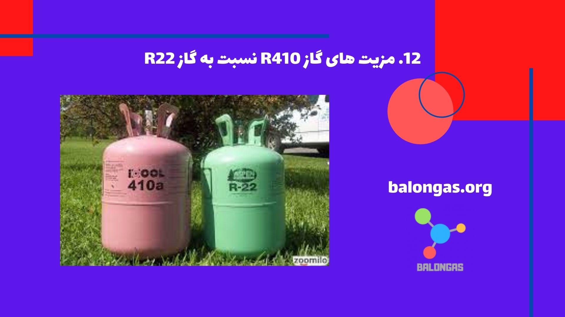 مزیت های گاز R410 نسبت به گاز R22